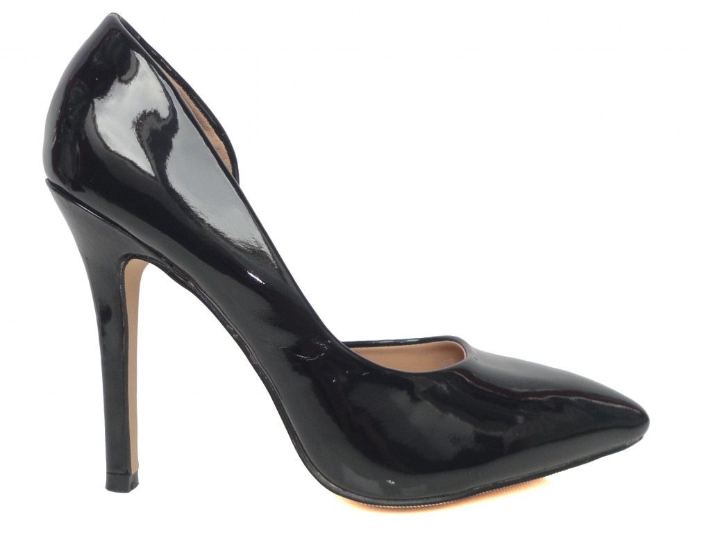 Hohe schwarze klassische Spike-Heels - 1
