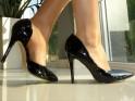 Hohe schwarze klassische Spike-Heels - 4