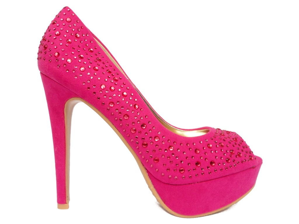 Pink pins on a platform with zirconia - 1