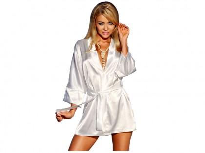 Ecru Satin Gown Gowner Panama - 1
