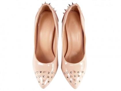 Pins shuttle shoes beige varnish - 2