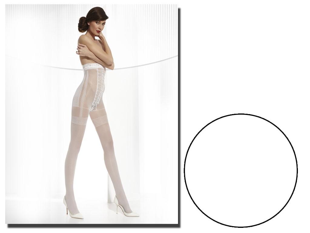 Grazia's wedding tights imitate a corset of stockings - 3