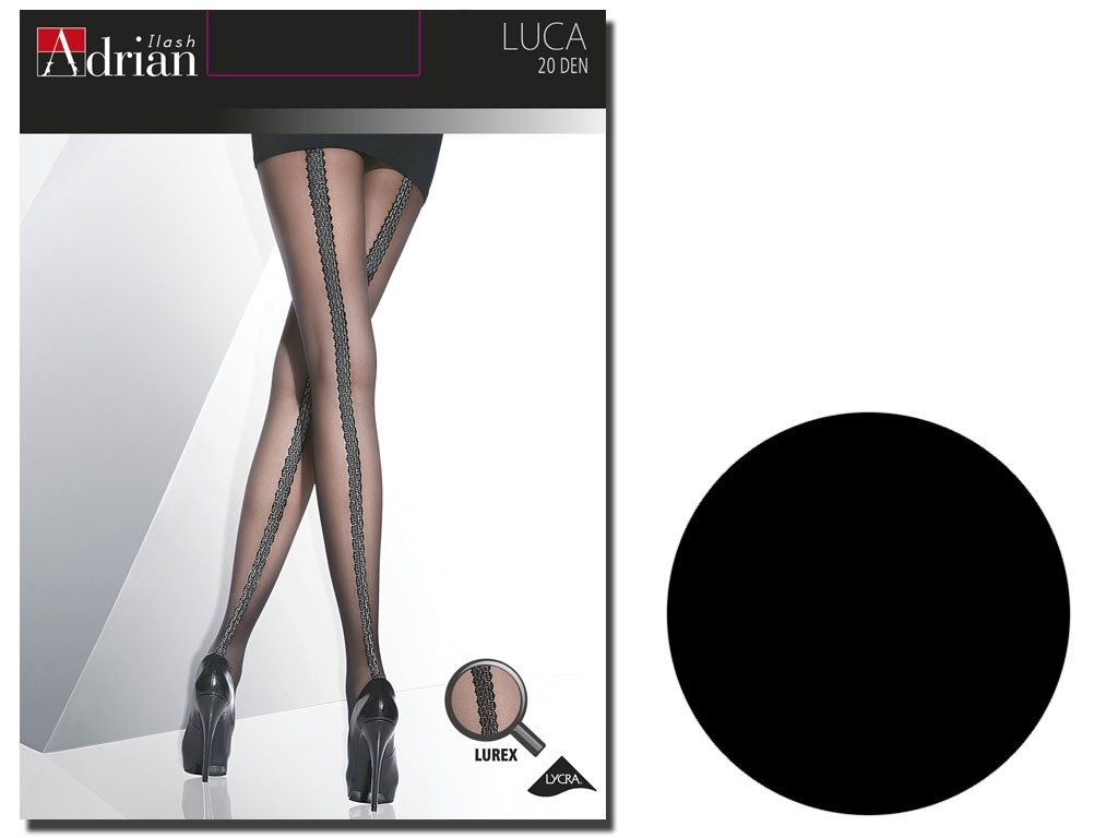 Tights 20 den Luca Adrian suture at the back - 4