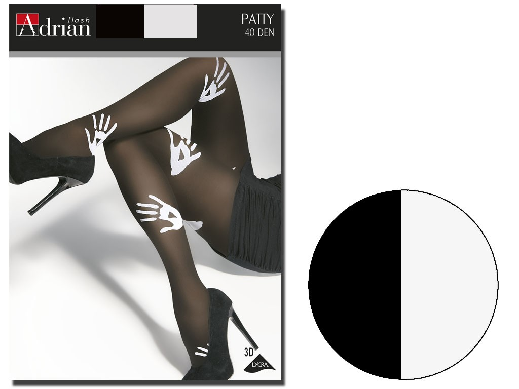Tights 40 den Adrian Patty with pattern - 3