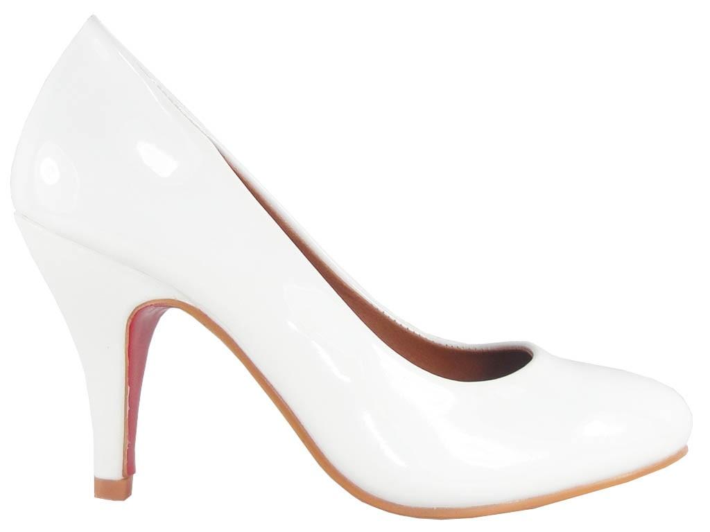 High Heels weiße klassische Hochzeitsschuhe Pumps - 1