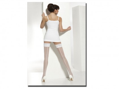 Wedding stockings 20 self-supporting bottoms with stitching - 1