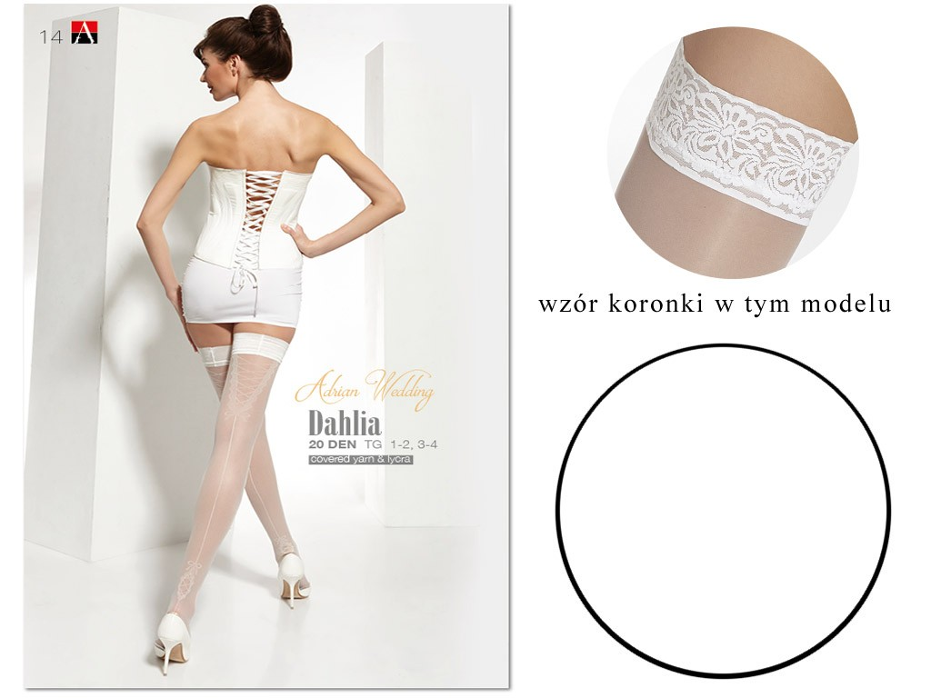 Dahlia Adrian weiße Hochzeitsstrümpfe - 3