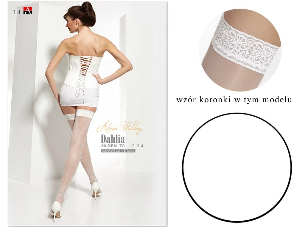 White wedding stockings Dahlia Adrian - 3