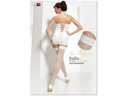 Dahlia Adrian weiße Hochzeitsstrümpfe - 1