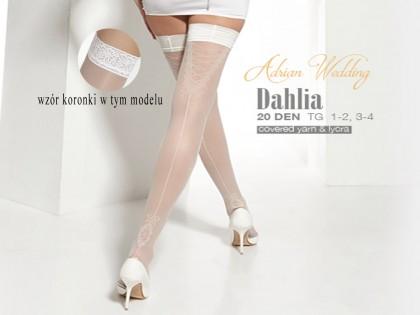 Dahlia Adrian weiße Hochzeitsstrümpfe - 2
