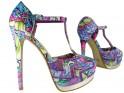 Colorful heel and platform sandals - 3