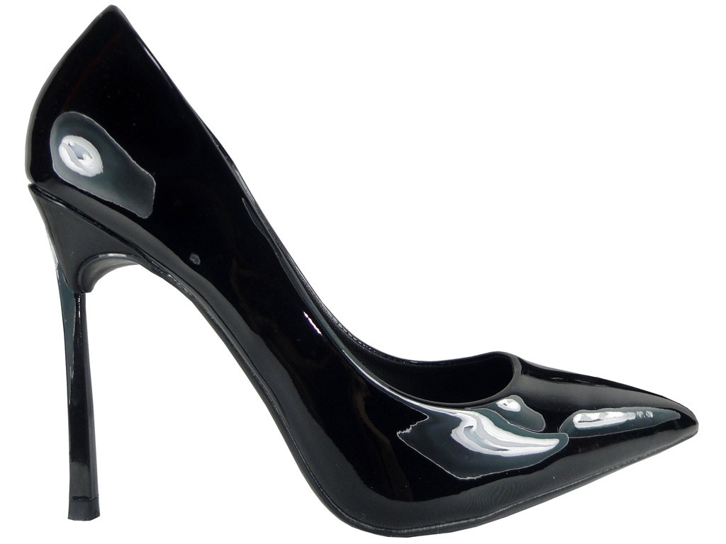 Black heeled boots - 1