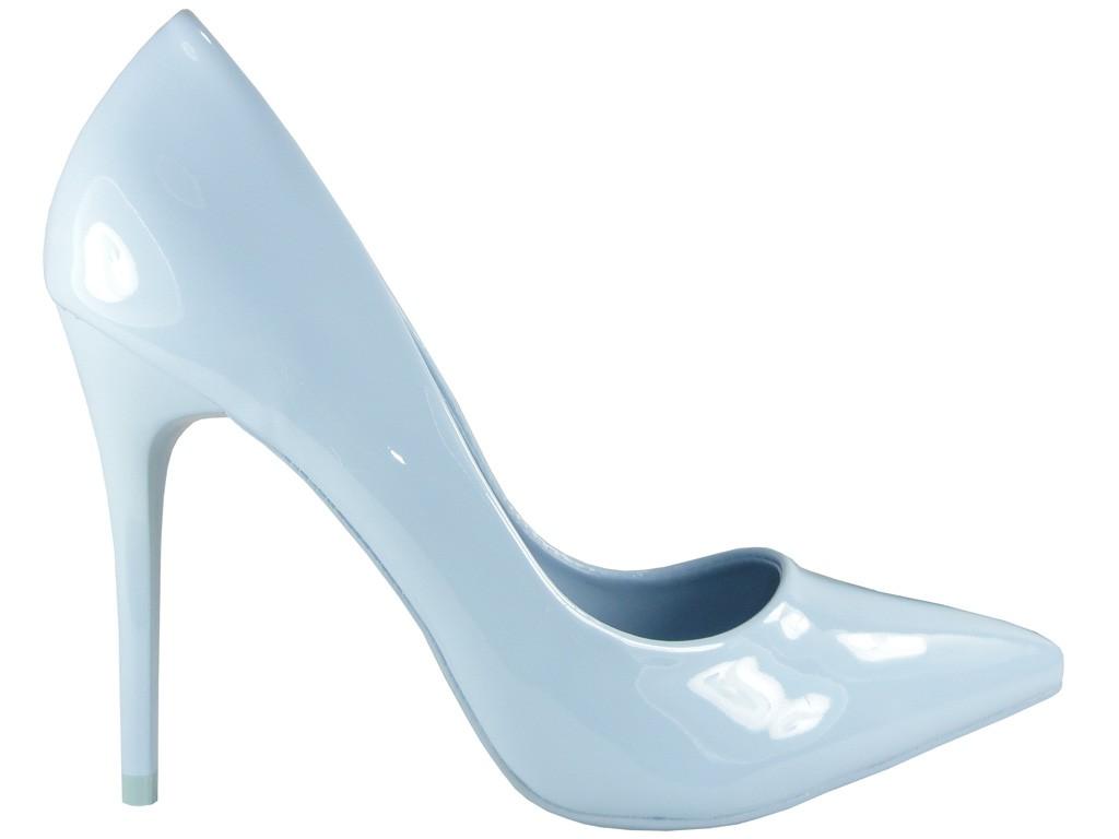 Blaue Stilettos schlanke, schlanke Stacheln - 1
