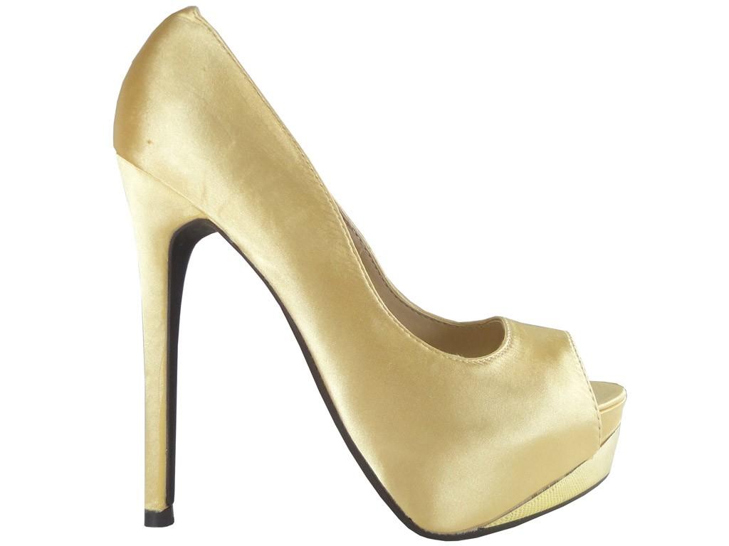 Outlet Gold Heels auf den Plateauschuhen online - 1