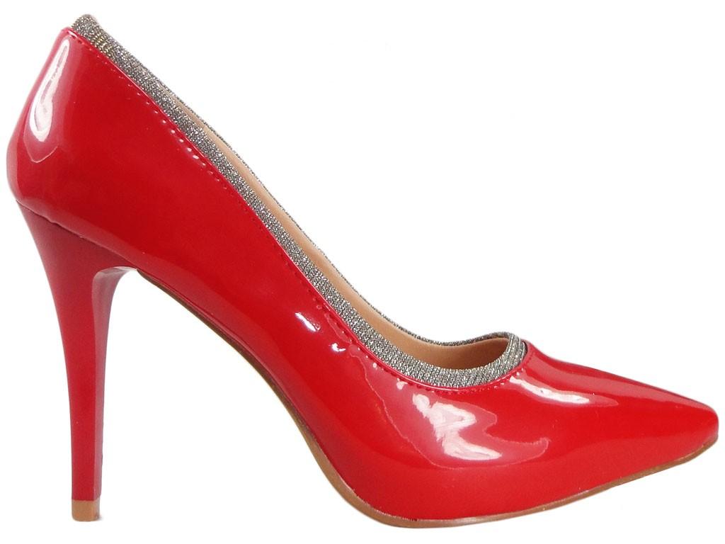High Heels rot lackierte Damenschuhe - 1