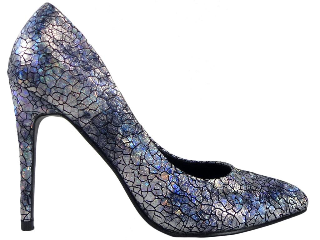 Pins black silver ladies' shoes - 1
