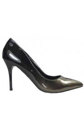 Ombre szpilki czarno złote buty damskie