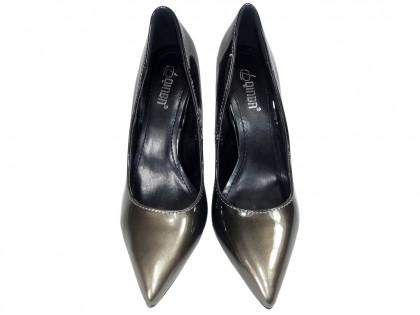Ombre pins black gold ladies' shoes - 2