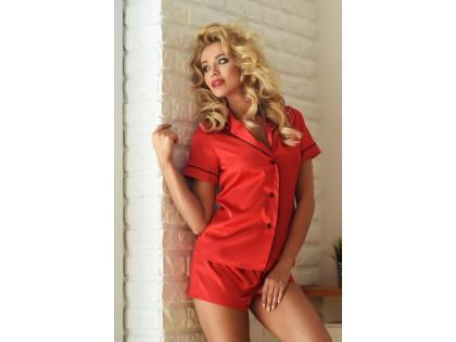 Ladies' underwear two-piece red set - 2