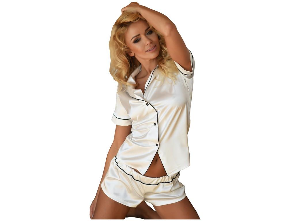 Ladies' underwear two-piece ecru set - 1