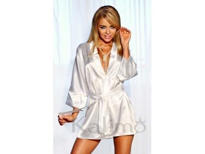 Ecru Satin Gown Gowner Panama - 2