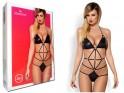 Schwarzer Körper mit sexy obsessiven Dessous-Trägern - 3