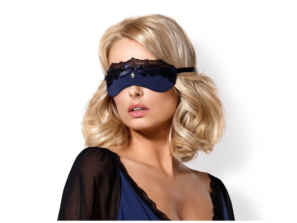 Spitze dunkelblaue Augenmaske - 1