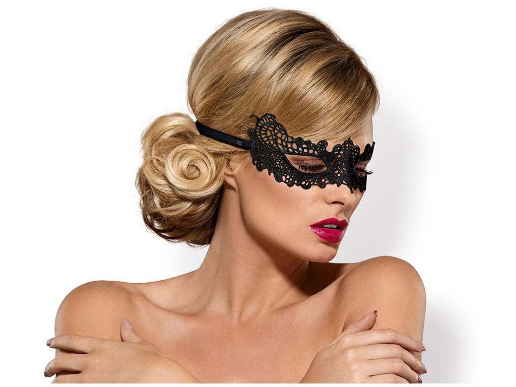 Female black eye mask Obsessive - 1