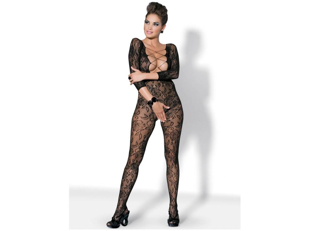 Sexy schwarze Bodystocking Dessous Obsessive - 1