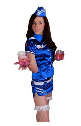 Bielizna erotyczna strój stewardessy niebieski