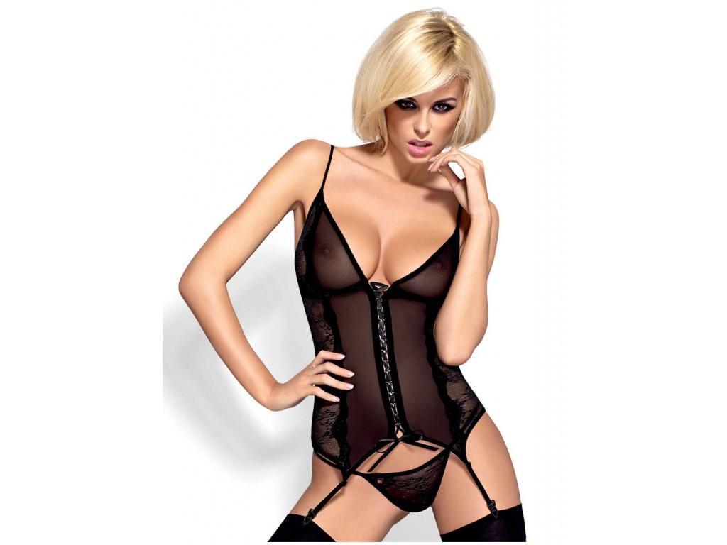 Black corset Obsessive sexy ladies' underwear - 1