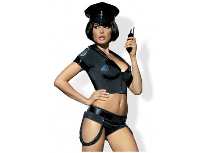 Police officer costume 5-piece Obsessive - 1