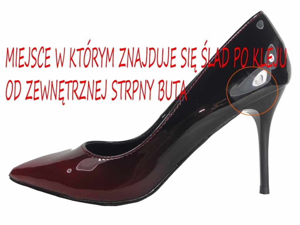 OMBRE CZERWONO CZARNE SZPILKI BUTY DAMSKIE
