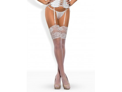 White stockings with wide lace to the waist - 1