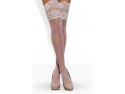 White stockings with wide lace to the waist - 2