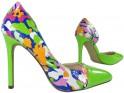 Grüne High Heels mit floralen Damenschuhen - 3