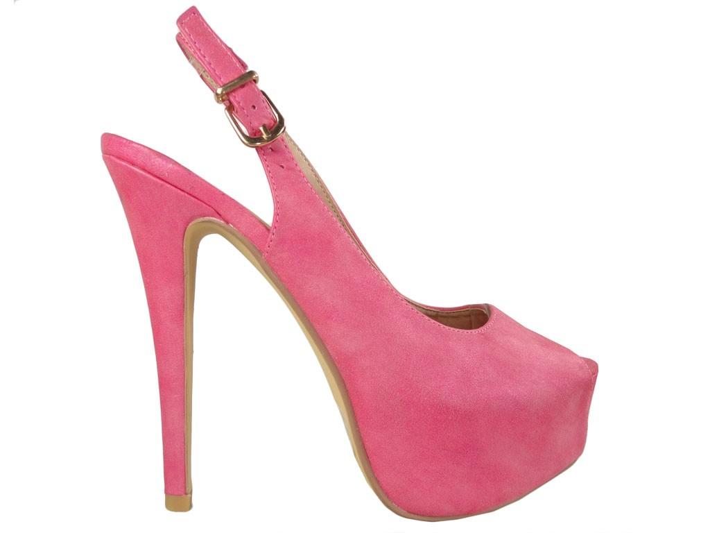 2fc1f945cdb8d Różowe szpilki na platformie obuwie damskie - KOKIETKI