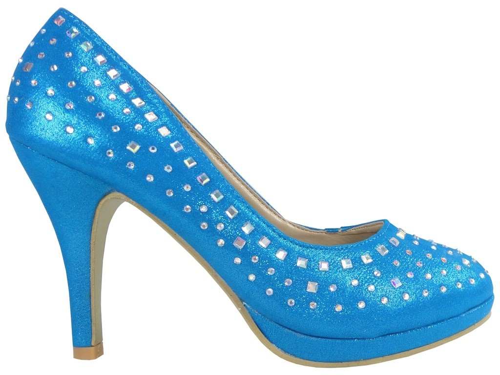 OUTLET BLUE PINS MIT SEQUINS