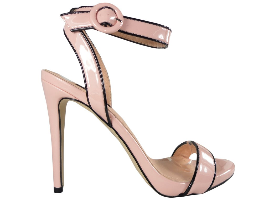 Pink women's pin sandals vices - 1