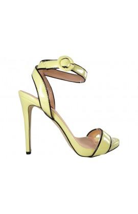 Żółte sandały damskie na szpilce vices
