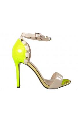 Żółte sandały damskie vices z paskiem