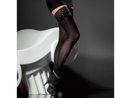 Self-supporting stockings 40 den with Fiore lace - 2