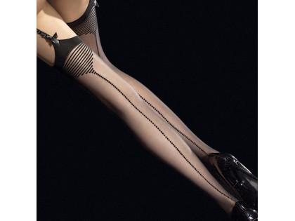 Pończochy z mega erotycznym wzorem i pionowym szwem