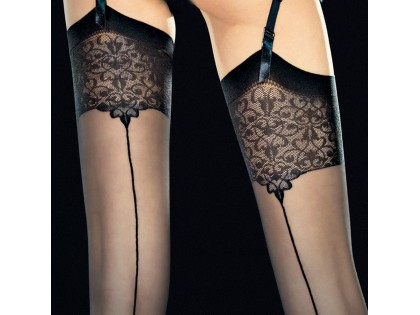FIORE VESPER STOCKINGS WITH STITCHING - 2