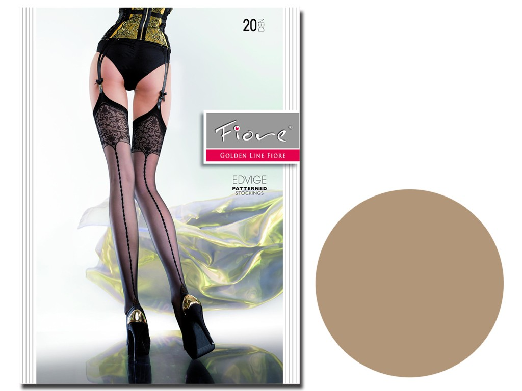 Stockings for the Edvige 20 den belt with stitching - 4