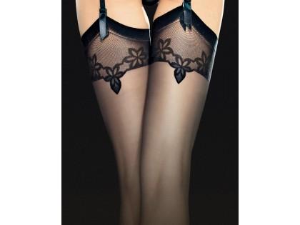Exclusive Fiore matt belt stockings - 2