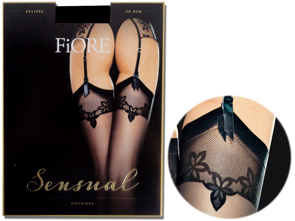 Exclusive Fiore matt belt stockings - 3