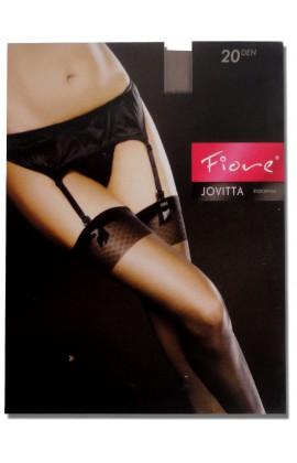 Gładkie pończochy do pasa Jovitta Fiore