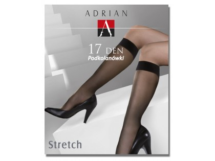 Stretch knee socks Adrian 17den - 2