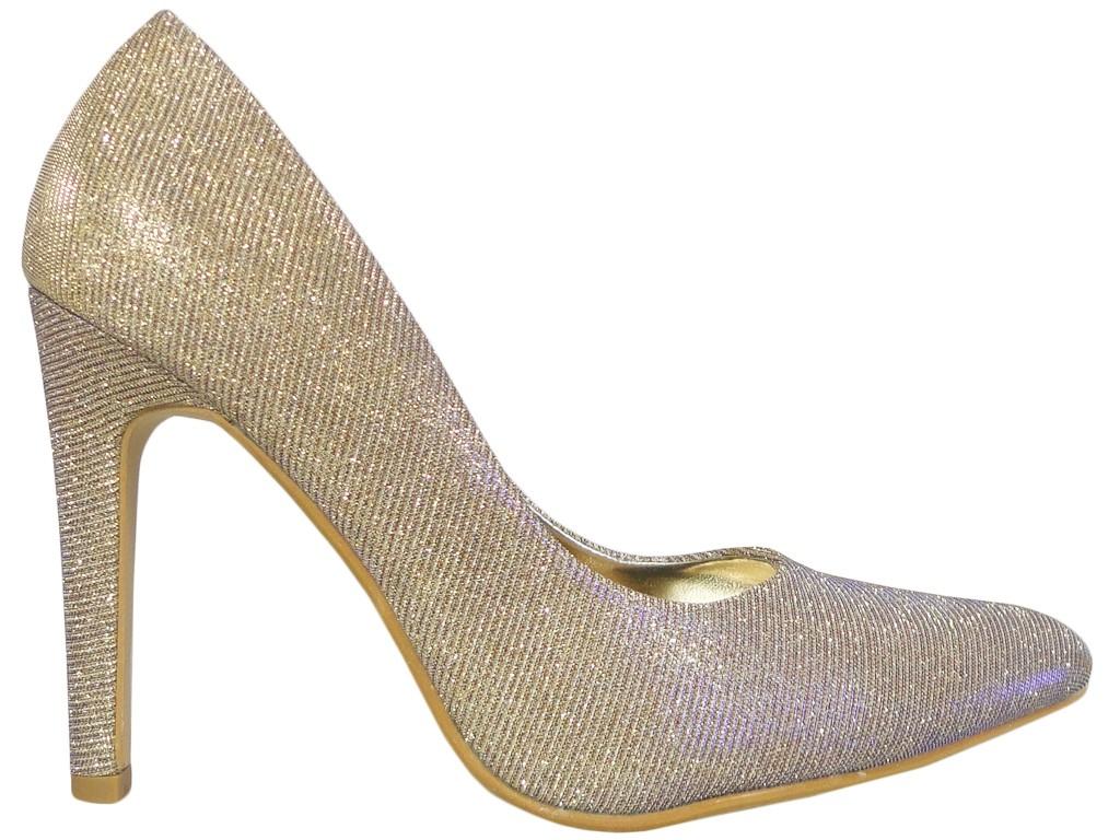 Gold iridescent female shuttle pins - 1